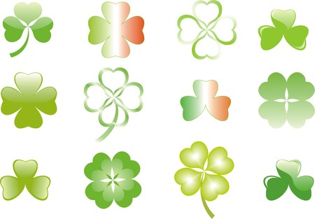 four fourleaf: clover or shamrock  for St Patrick's day