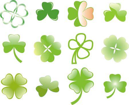 four fourleaf: clover or shamrock  for St Patrick's day