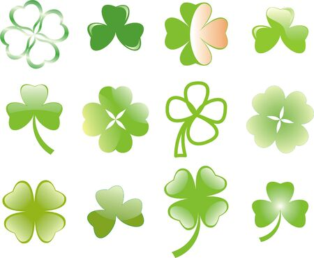 clover or shamrock  for St Patrick's day Stock Vector - 8737444