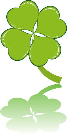 clover or shamrock  for St Patrick's day Stock Vector - 8737450