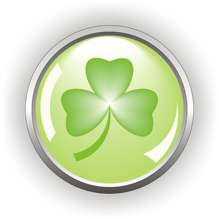 clover or shamrock button  for St Patrick's day                                    Stock Vector - 8737447