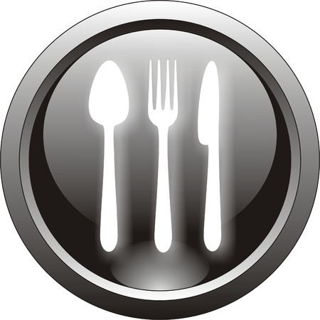 restaurant button  or icon               Vector