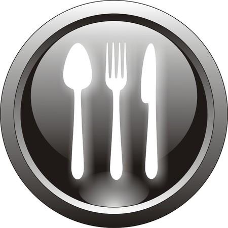 fork glasses: Ristorante pulsanti o icone