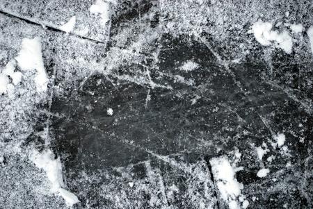 schnee textur: Eisbahn mit Schnee Textur