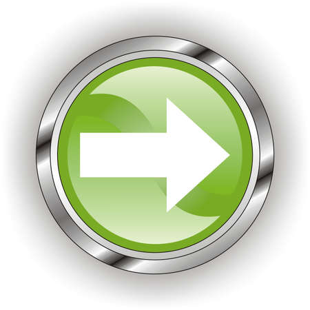 creation of sites: green web glossy button  or icon  with wave       Illustration