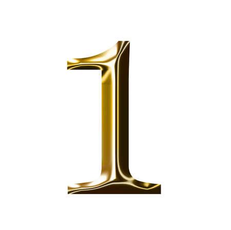 gold number symbol Stock Photo - 9157830