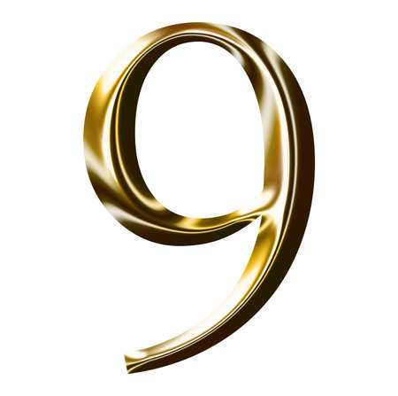 gold number symbol photo