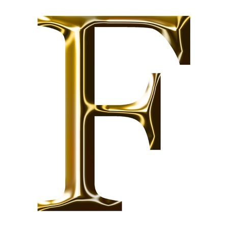 gold alphabet symbol    -  uppercase  letter    Stock Photo - 9157845