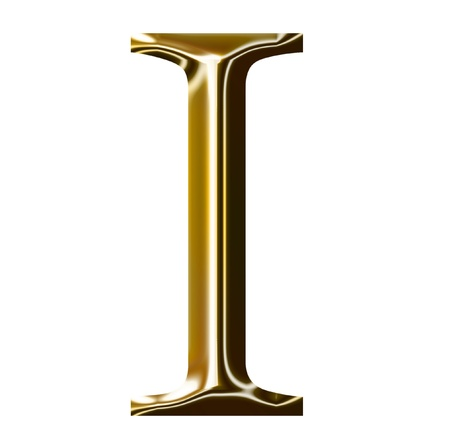liquid metal: gold alphabet symbol    -  uppercase  letter