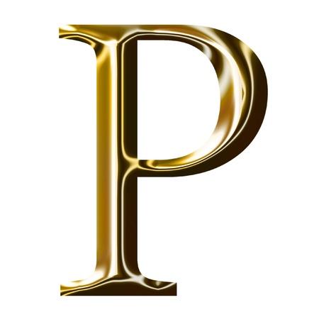 gold alphabet symbol    -  uppercase  letter