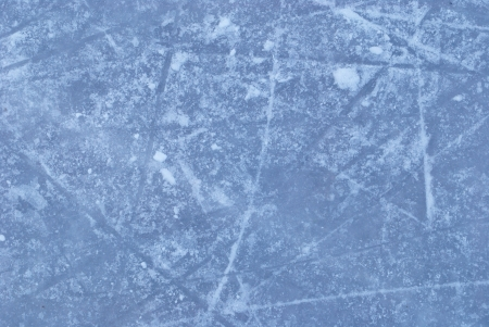 ice rink with snow texture  photo