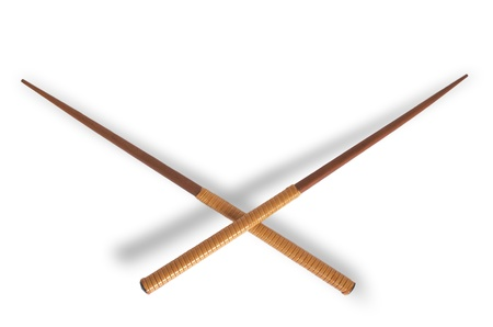 Chopsticks isolated on white                 Stock Photo - 9230881