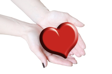 hands holding heart, love or medical concept  Stock Photo