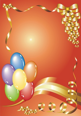 greetings card with balloons Vector