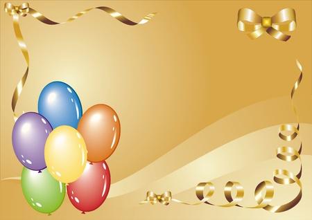 tarjeta de felicitaciones con globos