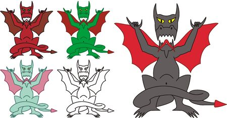 hang loose: hang loose dragon with Hawaiian sign in vector