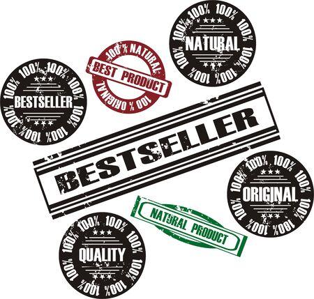 vector grunge stamp set Stock Vector - 10998625