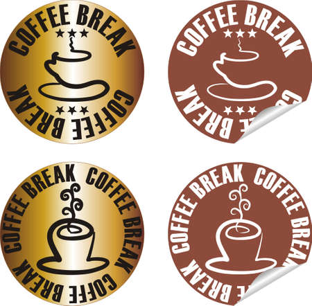 vector coffee stamp set Stock Vector - 10998629