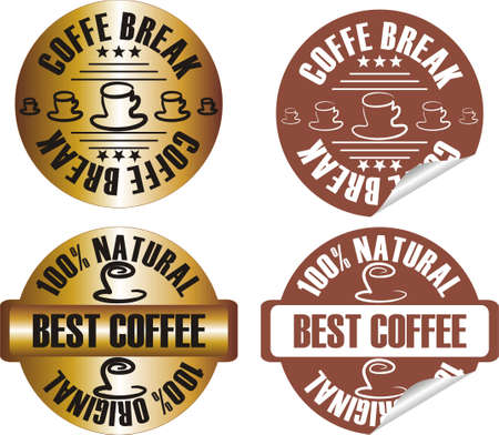 vector coffee stamp set Stock Vector - 10998634