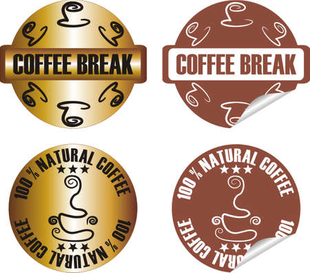 vector coffee stamp set Stock Vector - 10998631