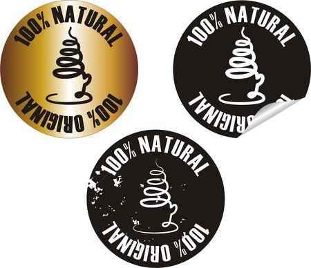 vector natural original stamp set Stock Vector - 10998633