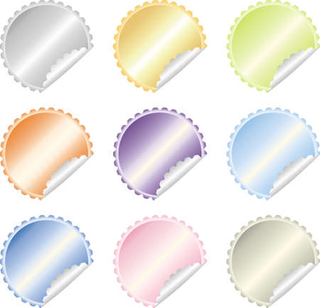 colorful  labels vector set Stock Vector - 11104979