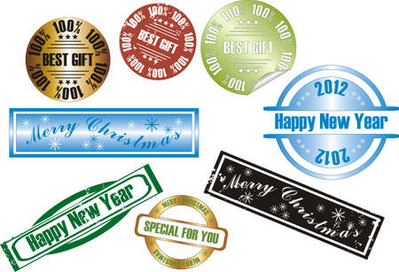 vector new year stamp Stock Vector - 11104977