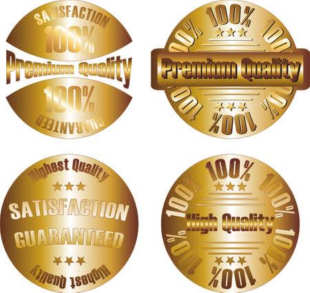 vector gold  premium quality label Stock Vector - 11104978