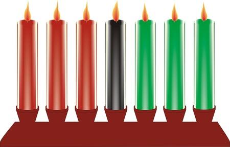 seven kwanzaa candles