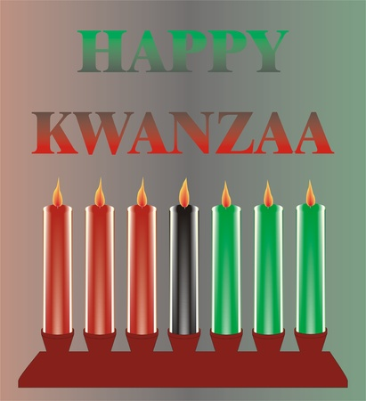 seven kwanzaa candles Illustration