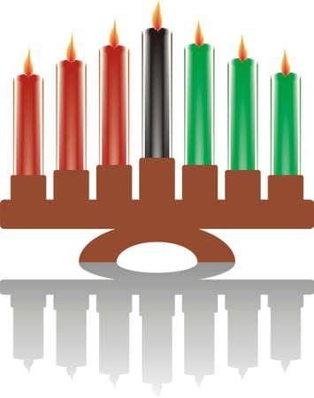 seven kwanzaa candles  Vector