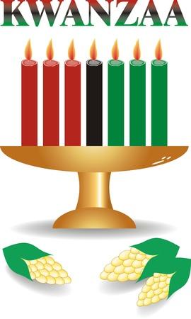 kwanzaa: seven kwanzaa candles