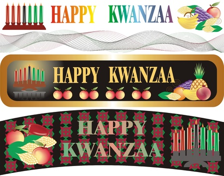 kwanzaa banner Illustration