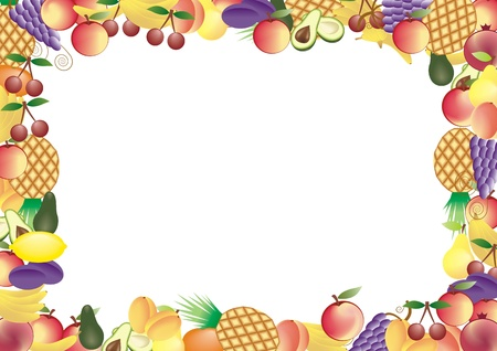 fruits vector frame  Vector