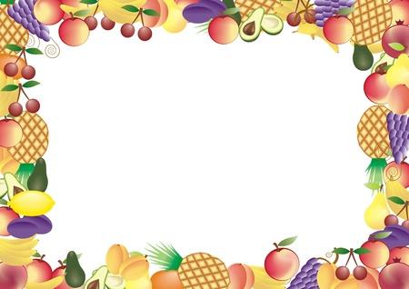 fruits vector frame Stock Vector - 11354922