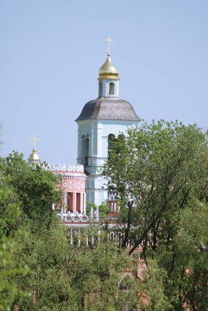 tsaritsino: church in Ekaterina palace .Moscow. Zarizino (Tsaritsino, tsaritsyno, tsaritsino)