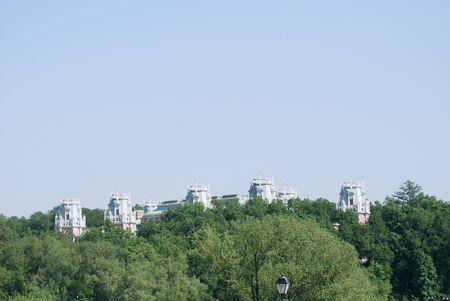 tsaritsino: queen Ekaterina palace roof in  Moscow. Zarizino (Tsaritsino, tsaritsyno, tsaritsino)