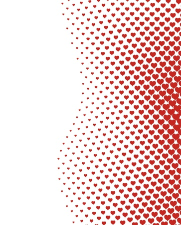 valentines heart halftone background  Vector
