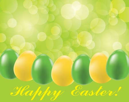 Easter background with eggs and blurry light   Vector