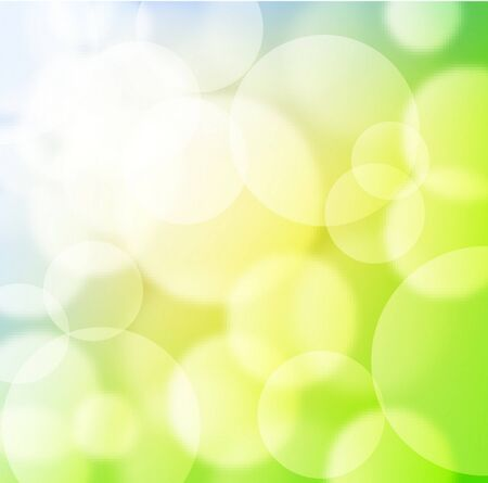 Green spring background with blurry light  Vector