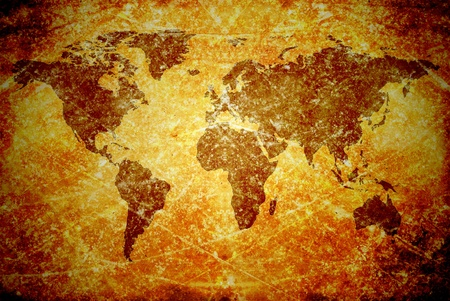 aged  vintage world map texture and background Stock Photo - 13205287