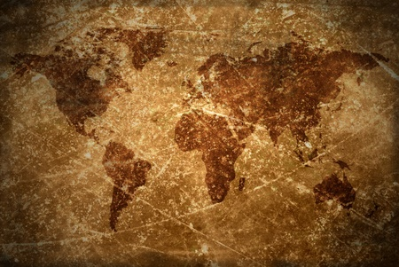 aged  vintage world map texture and background  photo