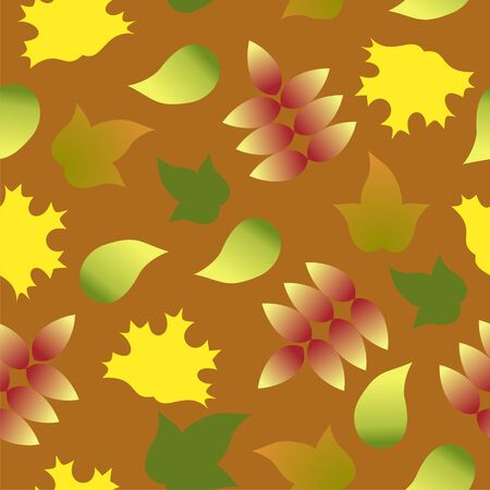 seamless pattern with autumn colorful leafs Vector