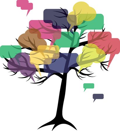 forum or chat  in  tree of speech bubbles concept Stock Vector - 13967987