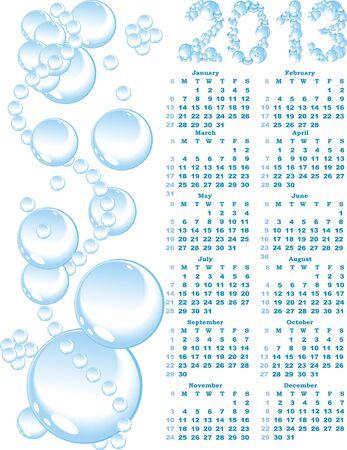 vector calendar 2013  on blue bubble background      photo