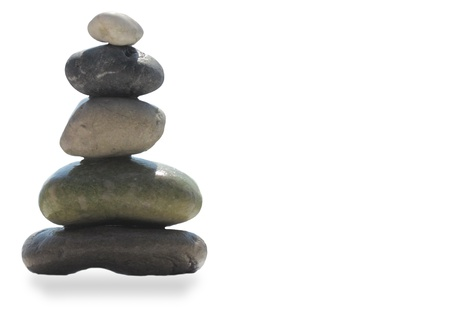 The stack of pebble stones in zen concept  Stock Photo