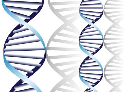 gene: dubbele DNA-helix, biochemische abstracte achtergrond Stock Illustratie
