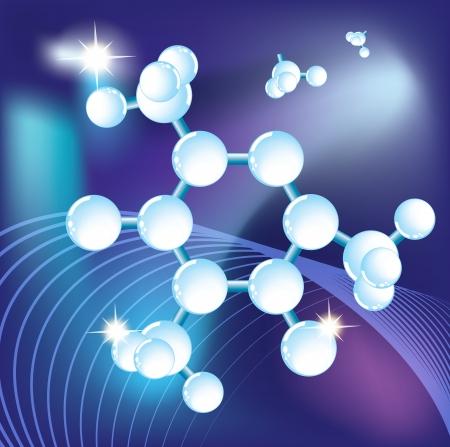 Molécule, structure moléculaire, science abstraite fond, eps10 Vecteurs