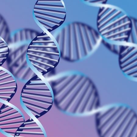 gene: DNA-helix, biochemische abstracte achtergrond met onscherpe strengen, eps10