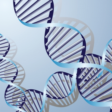 double DNA helix, biochemical abstract background  Stock Vector - 15200459